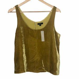 J. Crew Velvet Tank Top Vintage Gold Size 6